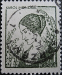 Stamps Poland -  Artist's Wife, by Karol Mondral