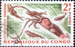 Stamps : Africa : Republic_of_the_Congo :  Intercambio 0,20 usd 2 fr. 1964