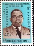 Stamps : Africa : Democratic_Republic_of_the_Congo :  Intercambio 0,20 usd 40 cent. 1961