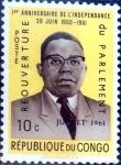 Stamps : Africa : Democratic_Republic_of_the_Congo :  Intercambio 0,20 usd 10 cent. 1961