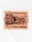 Stamps : America : Argentina :  REPUBLICA ARGENTINA TRANSMISIÓN DEL MANDO 1963