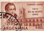 Stamps : America : Argentina :  Correo Aéreo 1810 25 de Mayo 1960