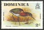 Sellos del Mundo : America : Dominica : Green heron-Garça-real verde