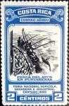 Sellos de America - Costa Rica -  Intercambio 0,20 usd 2 cent. 1950