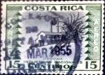 Stamps : America : Costa_Rica :  Intercambio 0,20 usd 15 cent. 1954