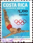 Stamps : America : Costa_Rica :  Intercambio 0,25 usd 1 colon 1968