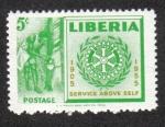 Sellos de Africa - Liberia -  50 Aniversario de Rotary International