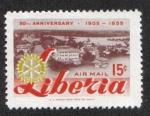 Stamps Liberia -  50 Aniversario de Rotary International
