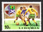 Sellos del Mundo : Africa : Liberia : Fútbol Copa del Mundo 1974 , Alemania