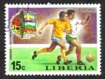 Stamps Liberia -  Fútbol Copa del Mundo 1974 , Alemania