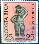 Stamps of the world : Costa Rica :  Intercambio 0,20 usd 25 cent. 1963