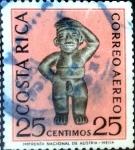 Stamps : America : Costa_Rica :  Intercambio 0,20 usd 25 cent. 1963