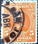 Sellos de America - Costa Rica -  Intercambio 0,20 usd 5 cent. 1910