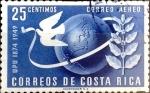 Sellos de America - Costa Rica -  Intercambio 0,20 usd 25 cent. 1950