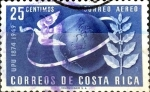 Stamps : America : Costa_Rica :  Intercambio 0,20 usd 25 cent. 1950