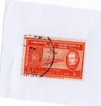 Stamps : America : Venezuela :  PRIMER CENTENARIO DE LA IMPLANTACIÓN DEL SELLO DE CORREOS