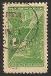 Stamps Cuba -  Caravela de Colón, y plantación de caña de azúcar