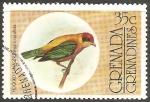 Sellos de America - Granada -  Hooded tanager-Saíra-de-chapéu-preto