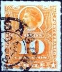 Sellos del Mundo : America : Chile : Intercambio 0,35 usd 10 cent. 1885