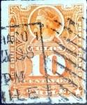 Stamps America - Chile -  Intercambio 0,35 usd 10 cent. 1885