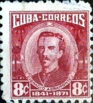 Sellos de America - Cuba -  Intercambio 0,20 usd 8 cent. 1954
