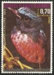 Sellos del Mundo : Africa : Guinea_Ecuatorial : El muscicapulla pallipespapa-moscas azul -