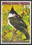 Stamps Equatorial Guinea -  Red-whiskered Bulbul