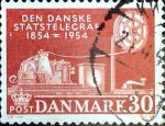 Stamps : Europe : Denmark :  Intercambio 0,25 usd 30 ore 1954