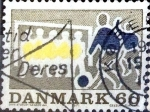 Stamps : Europe : Denmark :  Intercambio 0,20 usd 60 ore 1971