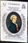 Stamps : Europe : Dominica :  Intercambio nf4xb1 0,20 usd 1/2 cent. 1977