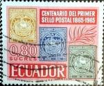 Sellos de America - Ecuador -  Intercambio 0,20 usd 80 cent. 1965