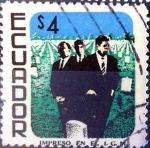 Stamps Ecuador -  Intercambio 0,20 usd 4 sucre 1957