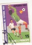 Sellos de Africa - Santo Tomé y Principe -  copa mundial de futbol -ESPAÑA-1982
