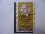 Stamps Canada -  Charles Vincent Massey 1887-1967 - (Yvert/Ca:412 - Mi/433)