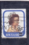 Stamps New Zealand -  reina Isabel II