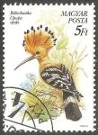 Stamps Hungary -  Bubosbanka upupa epops-poupa