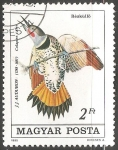 Sellos de Europa - Hungría -  Colaptes cafer-Pájaro carpintero