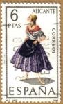 Stamps Spain -  ALICANTE - Trajes tipicos españoles