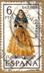 Stamps of the world : Spain :  BALEARES - Trajes tipicos españoles