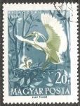 Sellos de Europa - Hungría -  Little egret