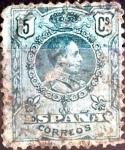 Sellos de Europa - España -  Intercambio 0,20 usd 5 cent. 1909