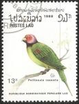 Sellos de Asia - Laos -  Psittacula roseata-cotorra carirroja