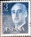 Stamps Spain -  Intercambio 0,20 usd 3 ptas. 1954