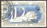 Sellos del Mundo : Asia : Mongolia : Cygnus olor-Cisne-branco