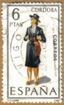 Stamps of the world : Spain :  CORDOBA - Trajes tipicos españoles