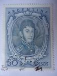 Stamps Argentina -  General José de San Martín (Scott/Ar:642)