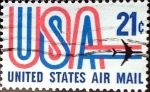 Stamps United States -  Intercambio 0,20 usd 21 cent. 1971