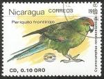 Sellos de America - Nicaragua -  Periquito frontirojo