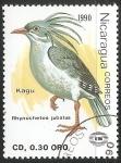 Stamps : America : Nicaragua :  Kagu
