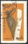 Sellos de Asia - Omán -  Woodpecker-Carpintero
